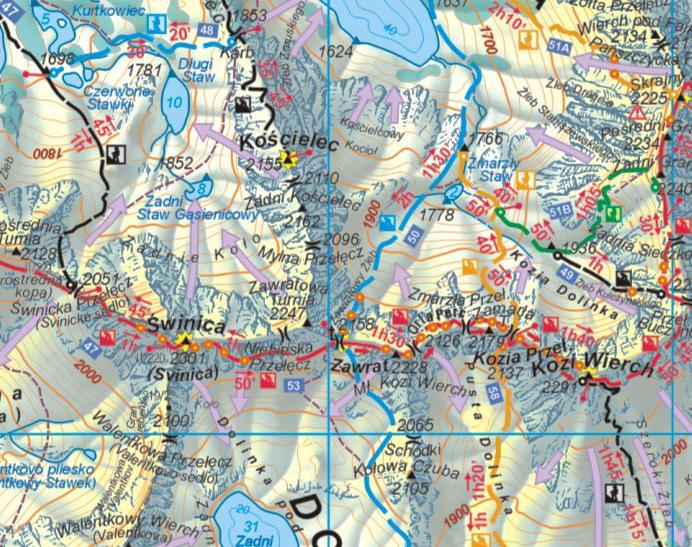 Mapy Tatr Mapa Tatr Wysokich W Calosci