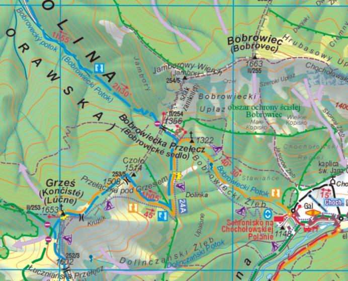 Mapy Tatr Mapa Tatr Zachodnich W Calosci