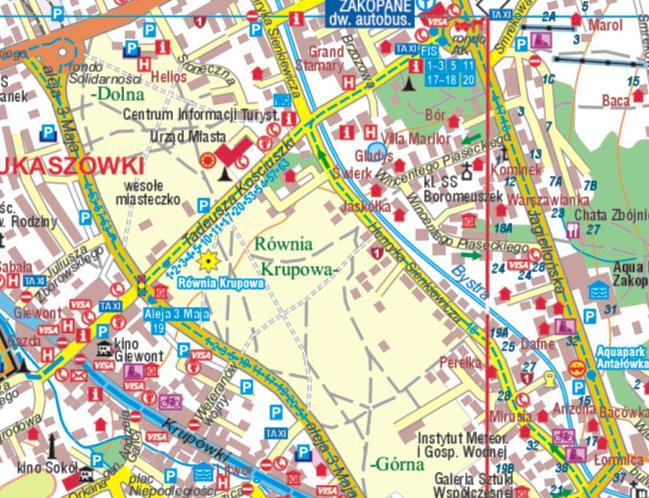 Mapy Tatr Plan Zakopanego W Calosci