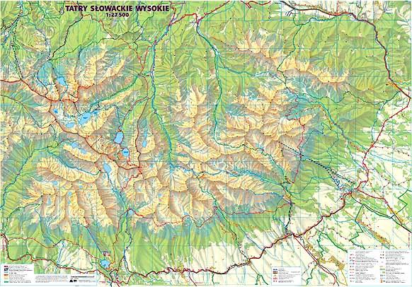 Mapy Tatr Mapa Tatr Slowackich Wysokich Kompaktowych I Jej Fragmenty
